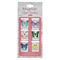 Picture of Magnetic Page Markers Butterfly Blessings