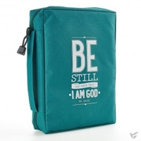 Picture of BIBLE BAG BE STILL MED TEAL