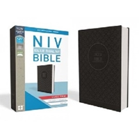 Picture of NIV Value Thinline Bible Large Print Gray/Black