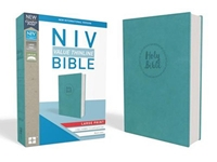 Picture of NIV Value Thinline Bible Large Print Blue
