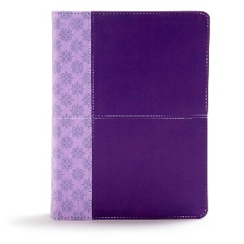Picture of CSB Study Bible Purple Leathertouch Indexed