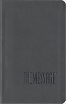 MESSAGE BIBLE GREY IMITATION LEATHER