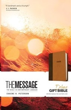 MESSAGE BIBLE BROWN LUXLEATHER