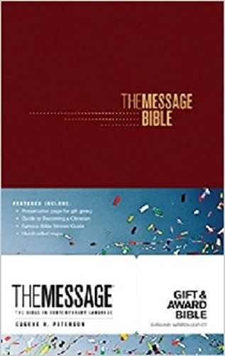 Picture of The Message Gift And Award Bible Burgundy