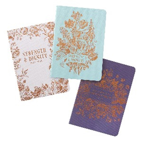 Picture of Notebook (Set of 3) Strength & Dignity