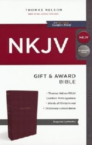 Picture of NKJV Gift And Award Burgandy Luxleather