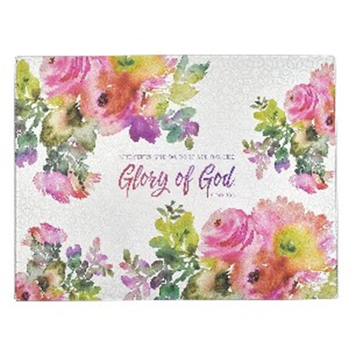 Picture of Glass Cutting Board Glory Of God