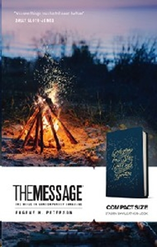 Picture of The Message Bible Compact Blue