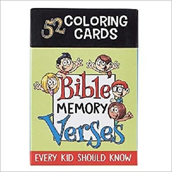 Picture of Colouring Boxed Cards Bible Memory Verses