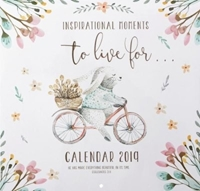 Picture of CALENDAR LARGE 2019 INSPIRATIONAL MOMENT TO LIVE B
