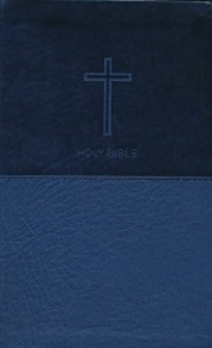 Picture of NKJV Value Thineline Bible Navy Leathersoft