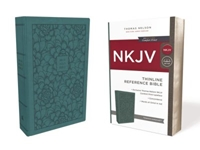 Picture of NKJV Thinline Reference Bible Leathersoft Turquois