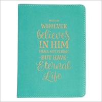 Picture of JOURNAL WHOEVER BELIEVES IN HIM HANDY SIZE