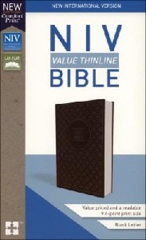 Picture of NIV Value Thinline  Bible L/Soft Gray/Black