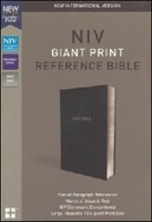 Picture of NIV REFERENCE GIANT PRINT BIBLE BLACK
