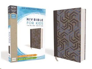 Picture of NIV Bible For Kids Thinline Leathersoft Blue