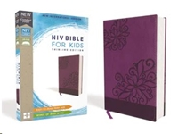 Picture of NIV Bible For Kids Thinline Leathersoft Purple