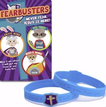 Picture of Armbands Fearbusters Never Fear Jesus Is Here