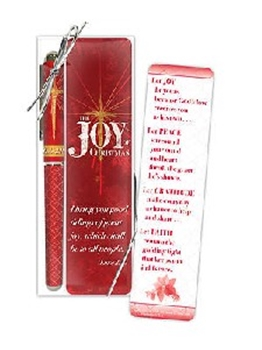 Picture of BOOKMARK AND PEN SET JOY OF CHRISTMAS
