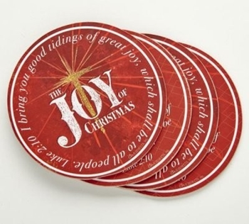 Picture of COASTER SET JOY OF CHRISTMAS4-PC