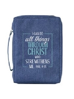 Picture of Bible Bag I Can Do All Things Blue Medium