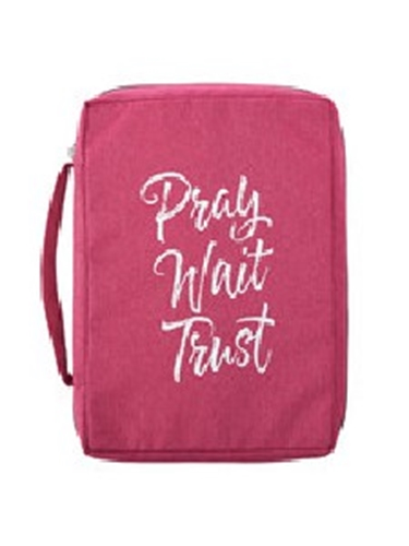 Picture of Bible Bag Pray Wait Trust Pink Large