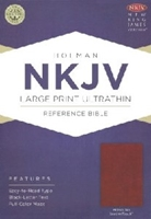Picture of NKJV Ultrathin Reference Bible Large Print Brown