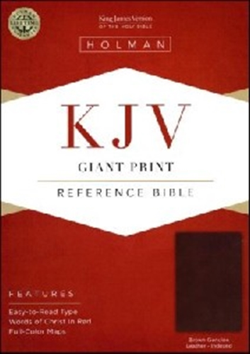 Picture of KJV Reference Bible Giant Print Genuine Leather