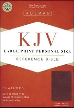 Picture of Kjv Reference Bible Large Print Brown Leather