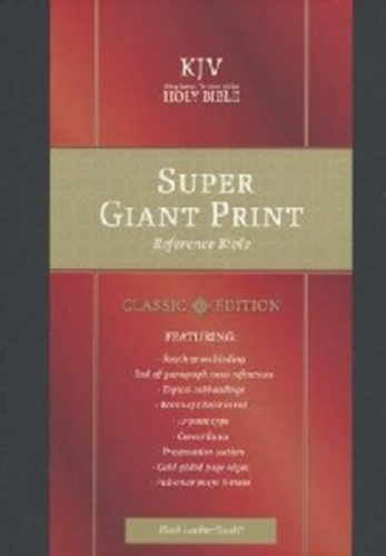 Picture of KJV Reference Bible Super Giant Print