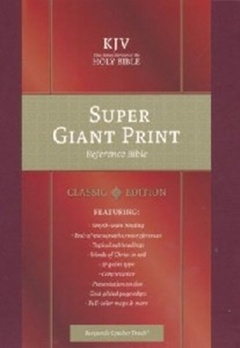 Picture of KJV Reference Bible Super Giant Print Burgundy