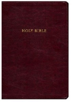 Picture of NKJV Reference Bible Super Giant Print Burgundy