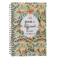 Picture of Notebook Wirebound Grace Sufficient 2 Cor12: 9