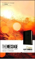 Picture of Message Bible Delux Gift Black/Slate Leatherlook