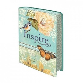 Picture of Nlt Inspire Bible H/B Luxleather Blue/Cream Silky