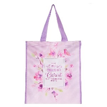Picture of Tote Bag I Can Do All Thing Through Christ who Str