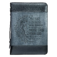 Picture of Bible Bag Be Strong And Courageous Lrg Classic Lux