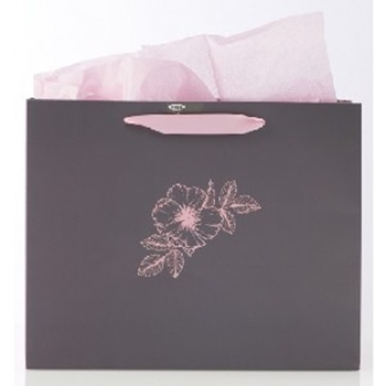 Picture of GIFT BAG LARGE SHE IS CLOTHED WITH STRENGHT AND DI