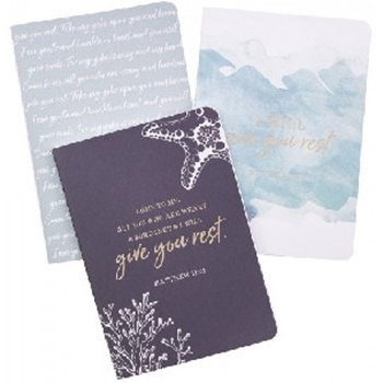 Picture of Notebook Set Medium I Will Give You Rest