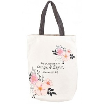 Picture of TOTE BAG SHE IS CLOTHED WITH STRENGHT AND DIGNITY