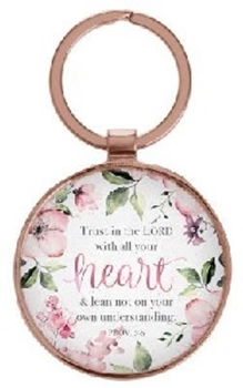 Picture of KEYRING IN TIN TRUST IN THE LORD WITH ALL YOUR HEA