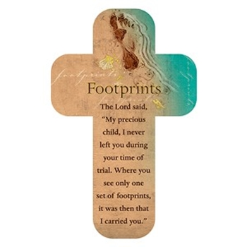 Picture of Bookmark Cross Footprints