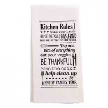 Picture of TEA TOWEL KITCHEN RULES