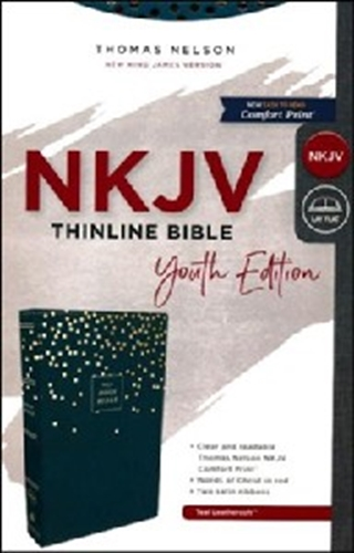 Picture of NKJV Thinline Bible Youth Edition Blue