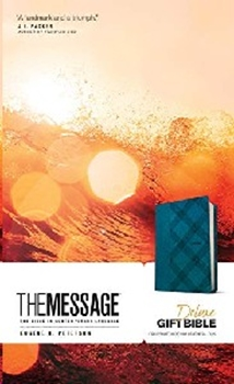 Picture of Message Bible Delux Gift Turquoise Leatherlook