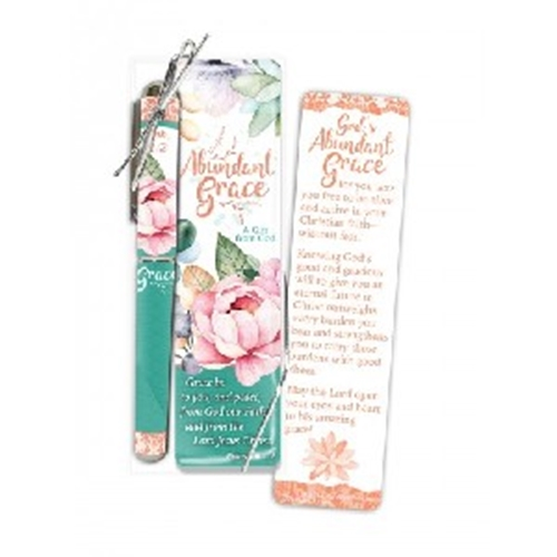 Picture of Pen & Bookmark Set Abundant Grace