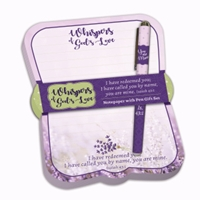 Picture of Notepad & Pen Gift Set Whispers Of God's Love