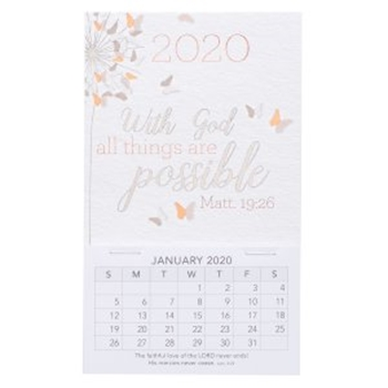 Picture of MAGNETIC CALENDAR 2020 WITH GOD ALL