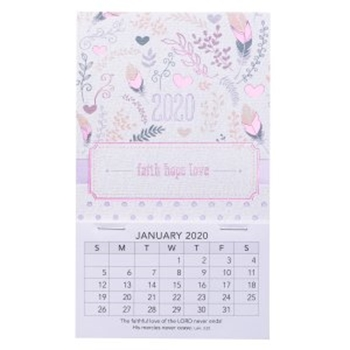 Picture of MAGNETIC CALENDAR FAITH HOPE LOVE