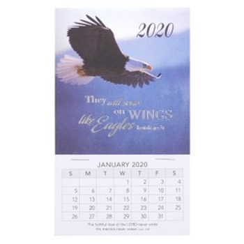 Picture of MAGNETIC CALENDAR 2020THEY WILL SOAR ON WINGS LIKE